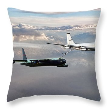 Throw Pillow featuring the digital art Full Service by Peter Chilelli