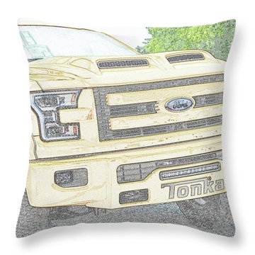 Throw Pillow featuring the photograph Full Sized Toy Truck by John Schneider