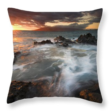 Full To The Brim Throw Pillow by Mike  Dawson
