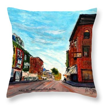 Fuller Building  Throw Pillow