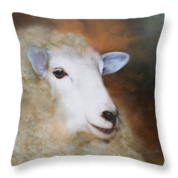 Throw Pillow featuring the photograph Fully Woolly by Robin-Lee Vieira
