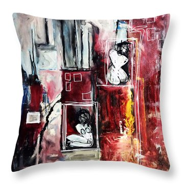Fully Self-contained Throw Pillow by Helen Syron