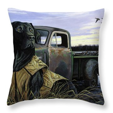 Fully Vested Throw Pillow