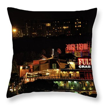 Fultons At Epcot Throw Pillow by Pat Cook