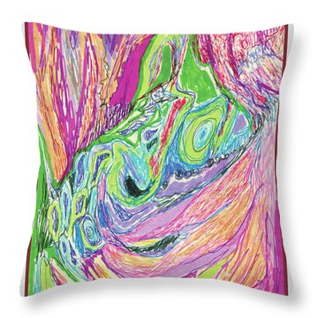 Fun And Games Throw Pillow by Ruth Renshaw