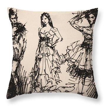 Fun At Art Of Fashion At Nacc 3 Throw Pillow