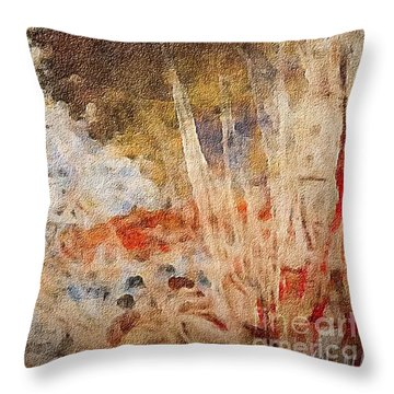 Fun By The Lake Throw Pillow by William Wyckoff