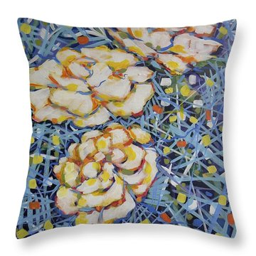 Fun Flowers Throw Pillow
