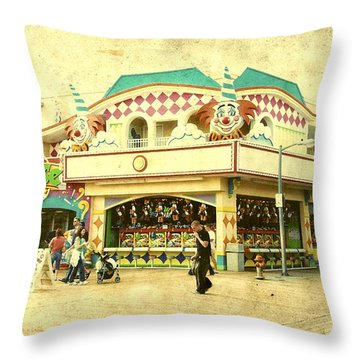 Fun House - Jersey Shore Throw Pillow by Angie Tirado
