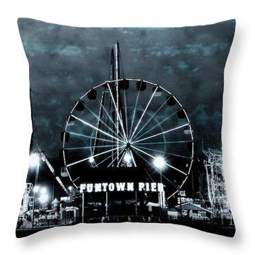 Fun In The Dark - Jersey Shore Throw Pillow