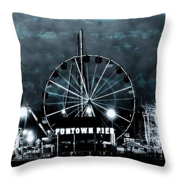 Fun In The Dark - Jersey Shore Throw Pillow