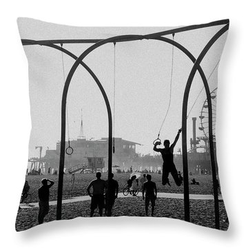 Fun In The Sun Throw Pillow by Cecil K Brissette
