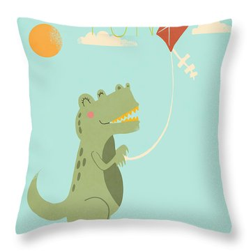 Fun Throw Pillow by Nicole Wilson