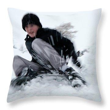 Fun On Snow-4 Throw Pillow