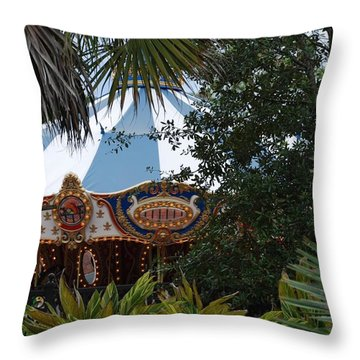 Throw Pillow featuring the photograph Fun Thru The Trees by Rob Hans