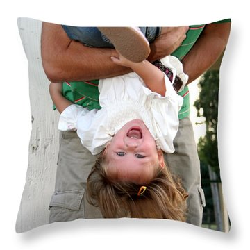 Fun With Daddy Throw Pillow