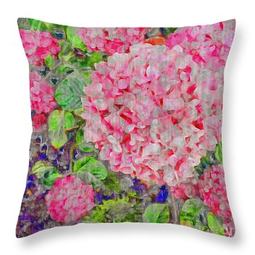 Fun With Flowers Throw Pillow by William Wyckoff