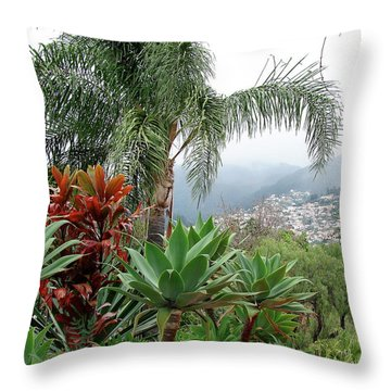 Funchal Maderia Throw Pillow