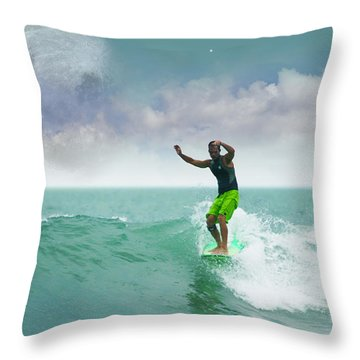 Funday Sunday Throw Pillow