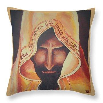 Fundraise Series 3 Praying Jew Throw Pillow by Kerstin Berthold