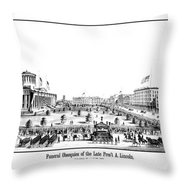 Funeral Obsequies Of President Lincoln Throw Pillow