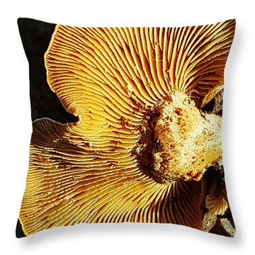 Fungus Throw Pillow by Bruce Carpenter