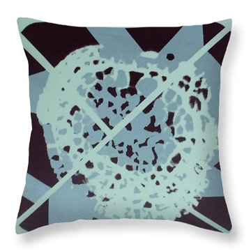Throw Pillow featuring the mixed media Fungus by Erika Chamberlin