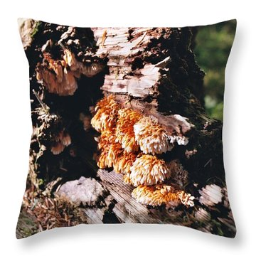 Fungus Is Beautiful Throw Pillow