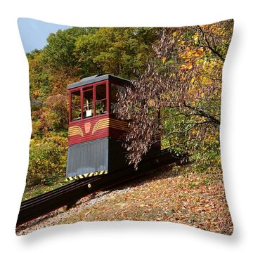 Funicular Descending Throw Pillow by Cindy Manero