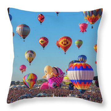 Funky Balloons Throw Pillow
