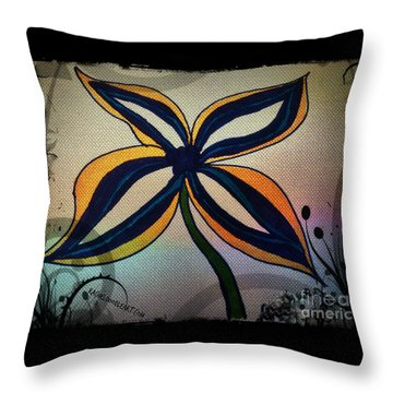 Funky Flower Throw Pillow
