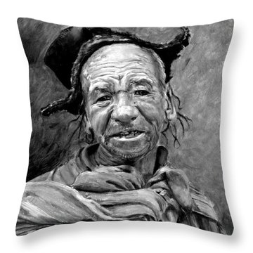 Funky Hat Throw Pillow