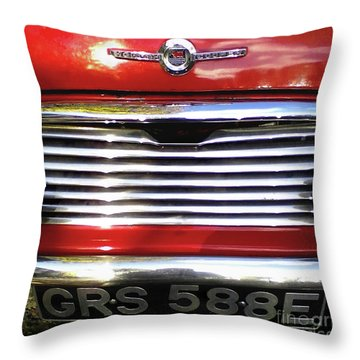 Funky Mini Morris Cooper Throw Pillow by Rebecca Harman