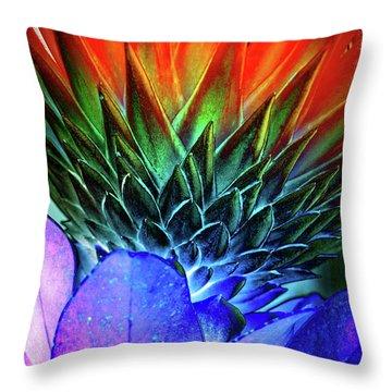 Funky Protea Throw Pillow