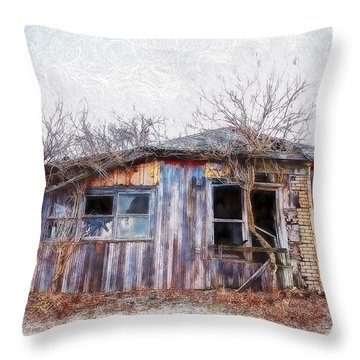 Funky Shack Throw Pillow