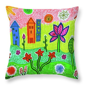Funky Town Throw Pillow