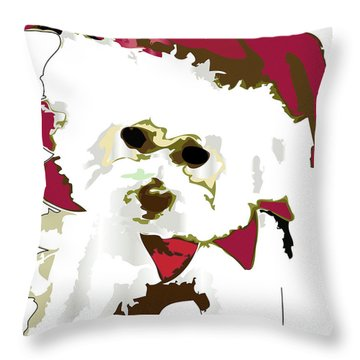 Funnie Bunnie Throw Pillow