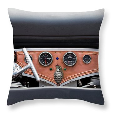 Throw Pillow featuring the photograph Funny Car Dash by Chris Dutton