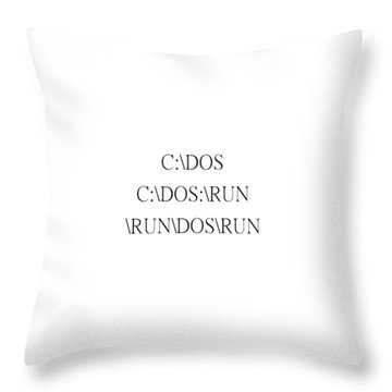 Funny Dos Throw Pillow