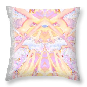 Funny Face Throw Pillow by Shirley Moravec