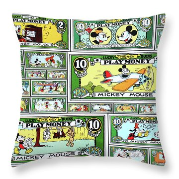 Funny Money Collage Throw Pillow