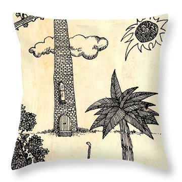 Funny Stuff Throw Pillow