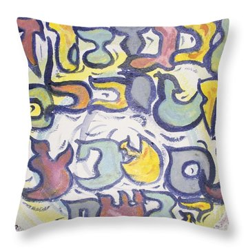 Funnzie Letters Throw Pillow