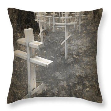 Funter Bay Markers Throw Pillow