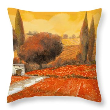 fuoco di Toscana Throw Pillow