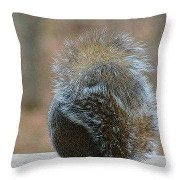 Fur Ball Throw Pillow
