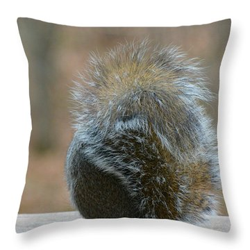 Throw Pillow featuring the photograph Fur Ball by SimplyCMB