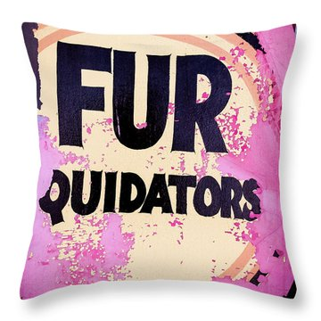 Throw Pillow featuring the photograph Fur - Sign by Colleen Kammerer