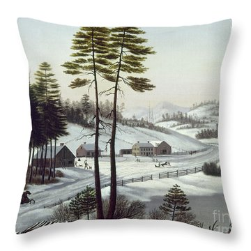 Furbishs Dash To Montreal Throw Pillow by Granger