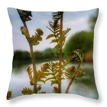 Furled Throw Pillow